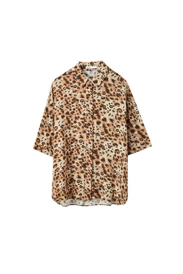 Chemise imprimé léopard