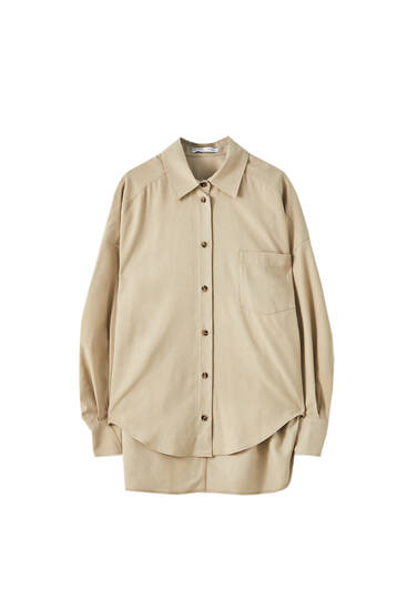 Oversized shirt with cuff detail