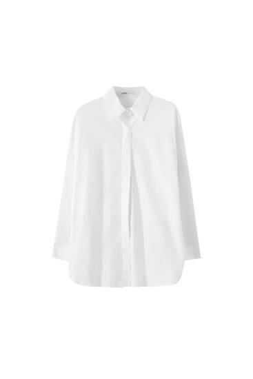 Camisa lisa popelina oversize