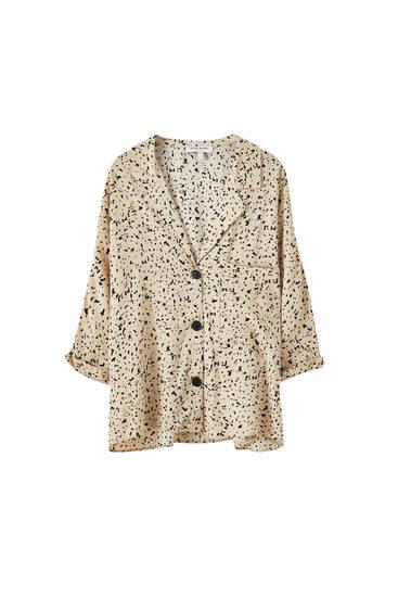 Printed kimono sleeve shirt