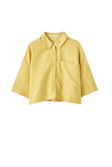 Рубашка свободного кроя с передним карманом