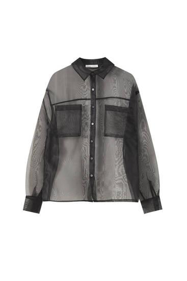 Black organza shirt