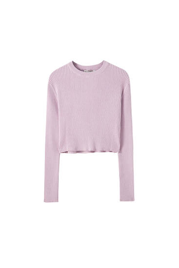 Basic long sleeve ribbed sweater