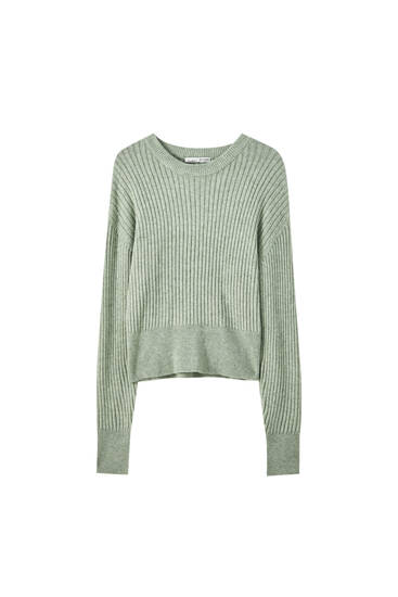 Ribbed soft regular sweater