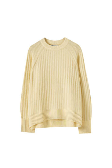 Ribbed soft touch jumper