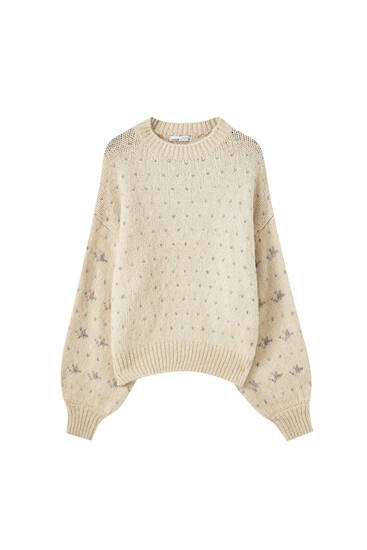 Soft-touch jacquard sweater