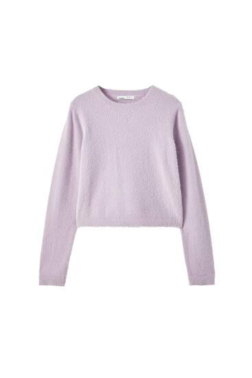 Pullover aus kurzem Kunstfell