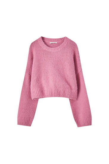 Fuzzy chenille sweater