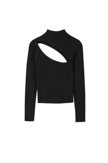Pullover mit Cut-Out und langen Ärmeln