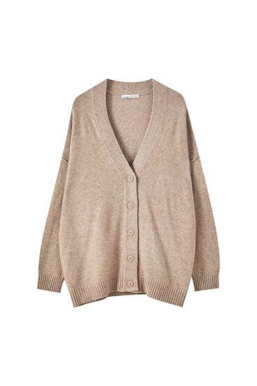 Soft knit buttoned cardigan