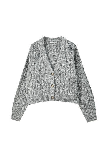 Open-knit cardigan
