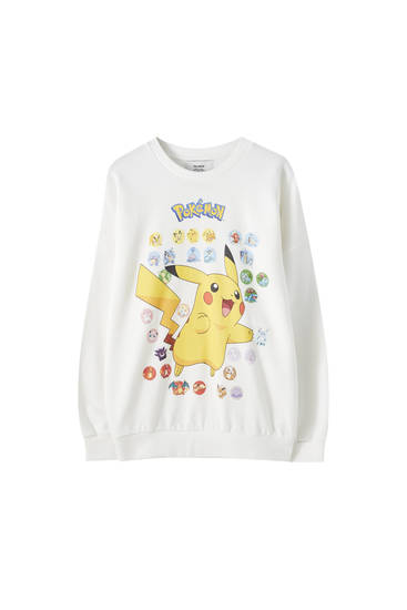 White Pokémon sweatshirt