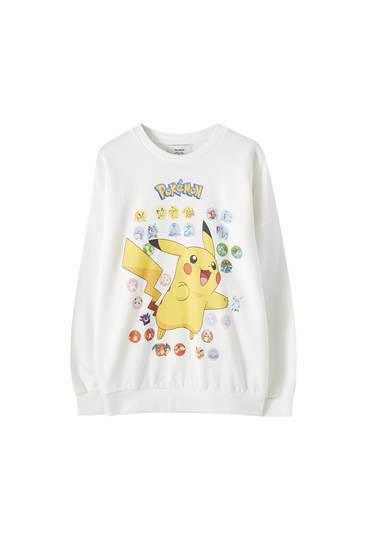 White Pokémon sweatshirt