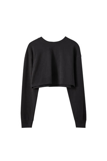 Basic cropped sweatshirt