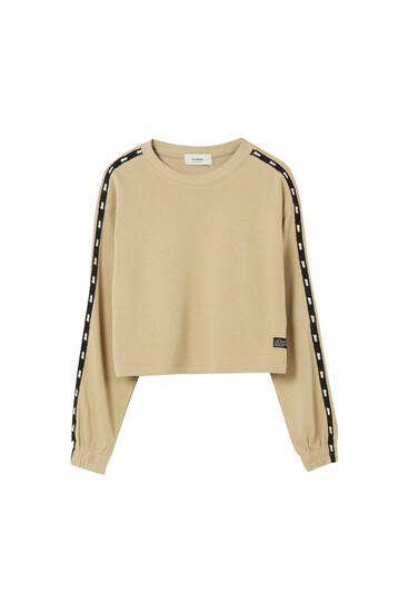 Sweat cropped STWD avec bandes
