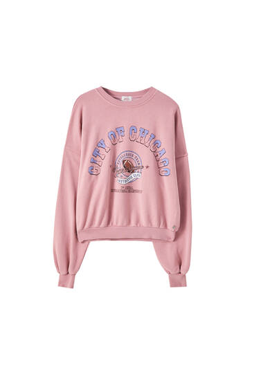 Long sleeve mauve sweatshirt
