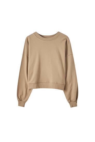 Sweatshirt in verschiedenen Farben mit Rundausschnitt