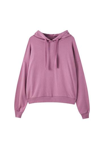 Sweatshirt in verschiedenen Farben mit Kapuze