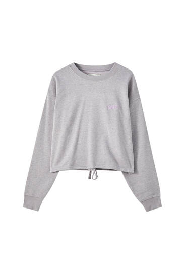Sweat cropped STWD brodé
