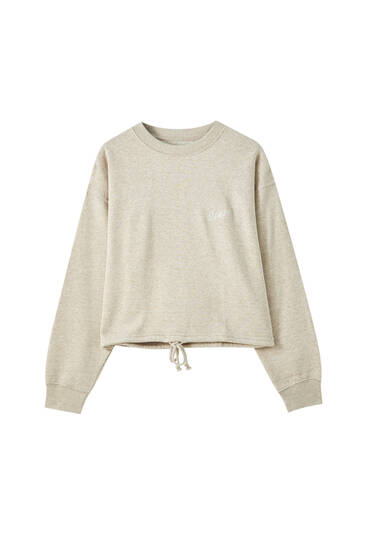 STWD embroidered cropped sweatshirt