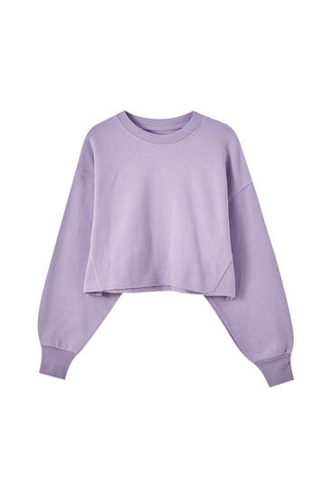 Bequemes Cropped-Sweatshirt