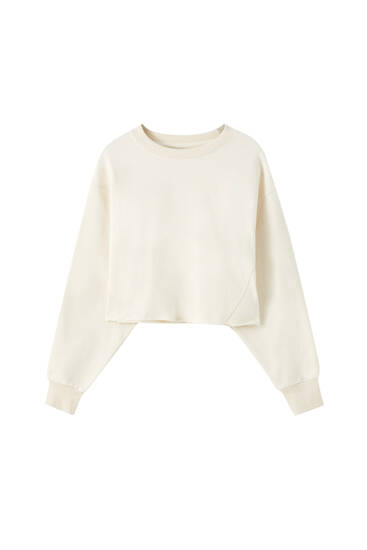 Cropped comfort sweatshirt