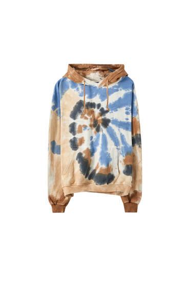 Tie-dye sweatshirt with pocket