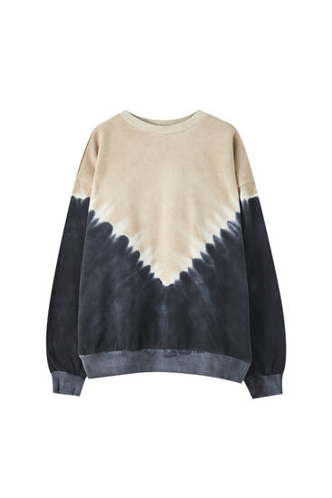 Tie-dye-Sweatshirt in Dégradé-Optik