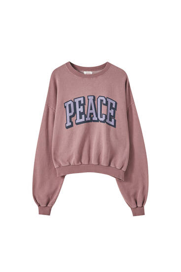 Pink 'Peace' sweatshirt