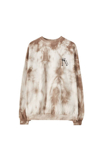 Brown tie-dye sweatshirt