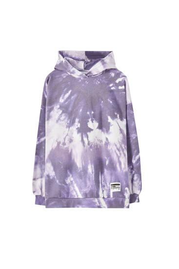 Purple tie-dye hoodie