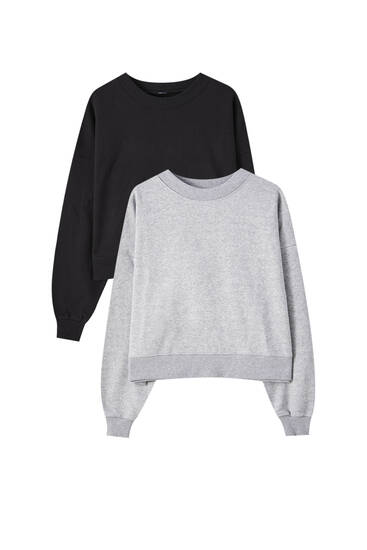 Sweatshirts mit Rundausschnitt im Pack