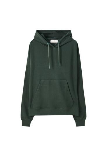 Sweatshirt mit Bauchtasche und Kapuze