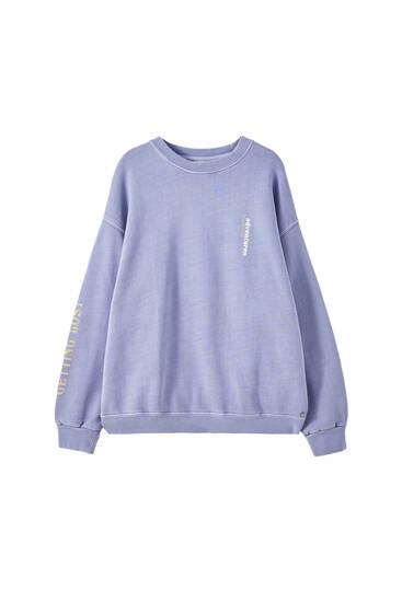 Sweatshirt mit langen Ärmeln und Slogan