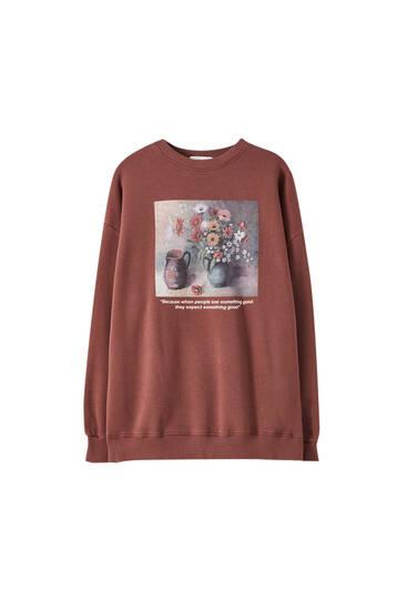 Sweatshirt mit Krugmotiv