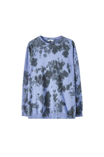 Sweatshirt mit Tie-dye-Print
