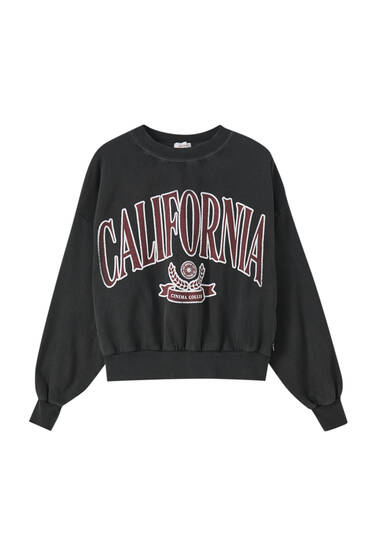 Sweatshirt with California slogan