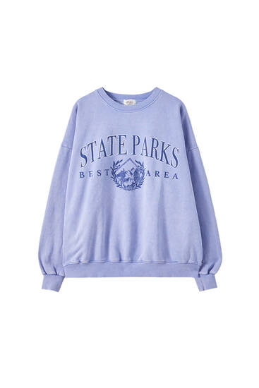 "Faded blue ""State Parks"" sweatshirt"