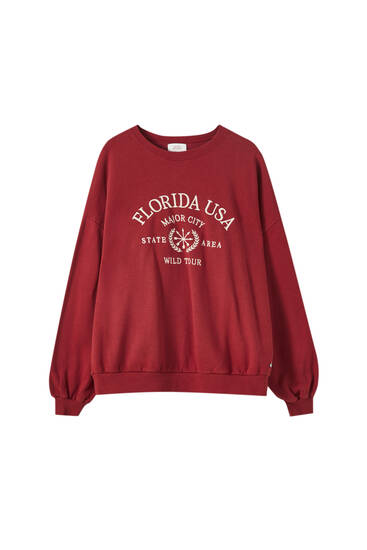 Embroidered Florida sweatshirt