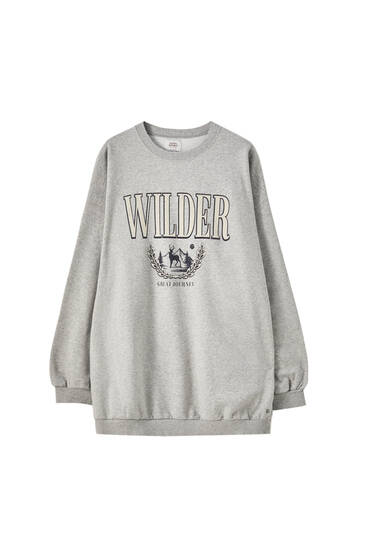 Grey oversized Wilder sweatshirt