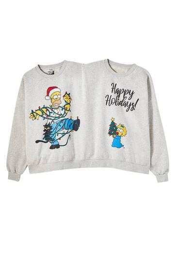 The Simpsons Christmas double sweatshirt