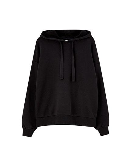 Χρωματιστό φούτερ basic με κουκούλα