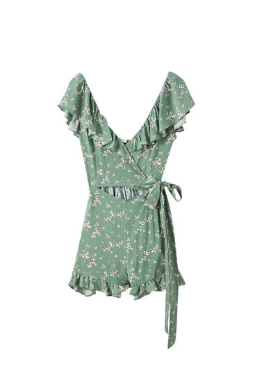 Playsuit with cut-out detail