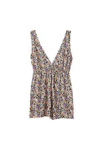 Strappy playsuit with a V-neck