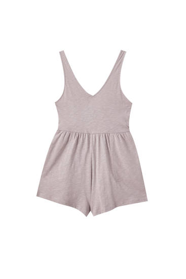 Basic strappy playsuit with a V-neck