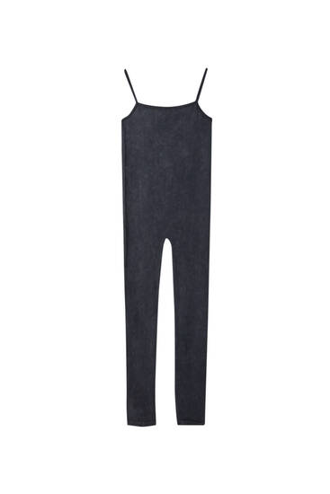 """Soul Moving"" faded black jumpsuit"