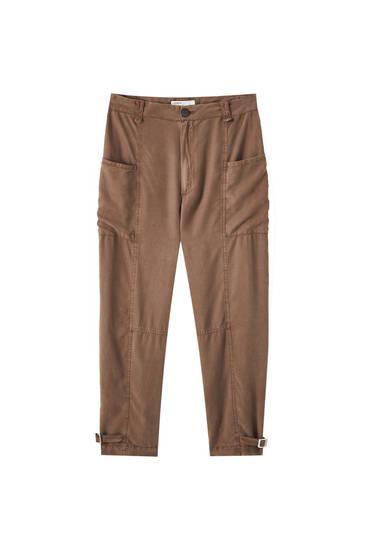 Pantaloni utility maro