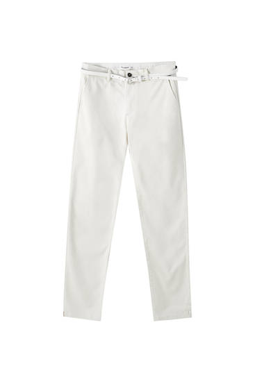 Basic chino trousers with belt