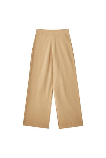 Soft-touch culotte trousers