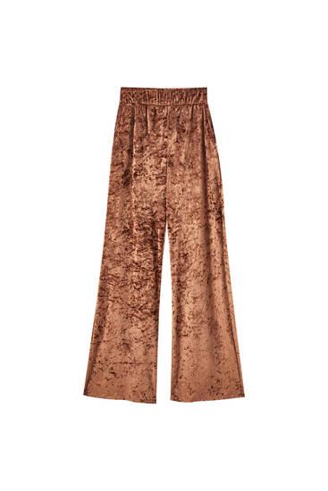 Loose-fitting velvet trousers
